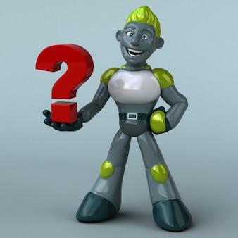 Green robot - 3d character