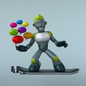 그린 로봇-3d 캐릭터