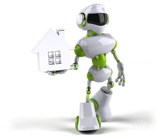 녹색 로봇-3d 캐릭터