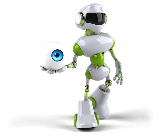 緑のロボット-3dイラスト