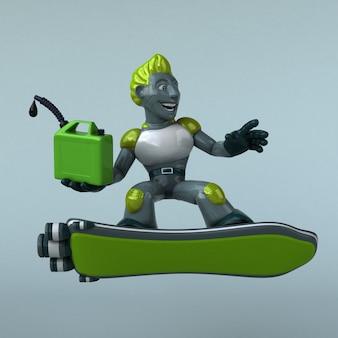 녹색 로봇 3d 그림