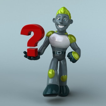 Зеленый робот - 3d иллюстрации