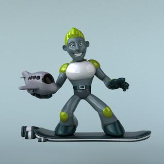 緑のロボットのアニメーション