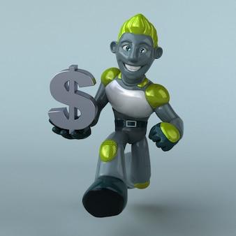 Green robot animation