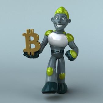 Green robot illustration