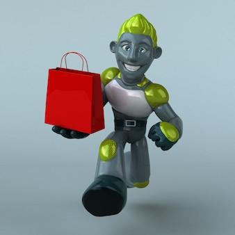 Зеленая иллюстрация робота