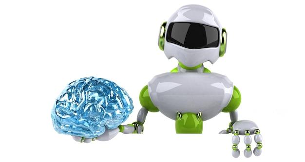 Иллюстрация зеленый робот