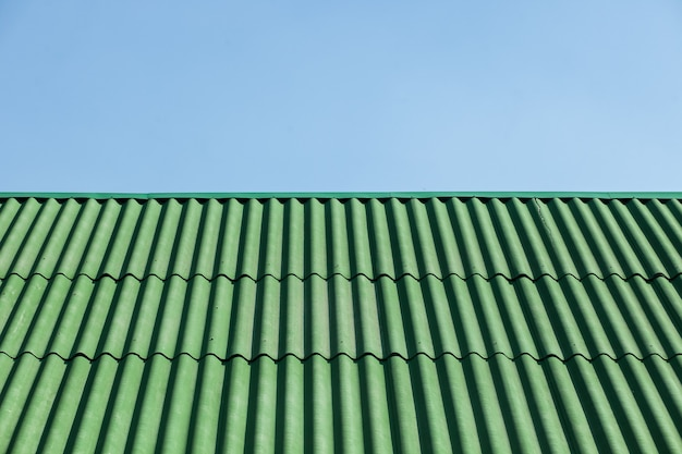 Green roof of slate. surface. texture
