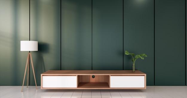 녹색 방 흰색 바닥 미니멀리스트 일본식 거실