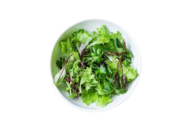 グリーンサラダレタスミックスジューシーなマイクログリーンスナック健康的な食事