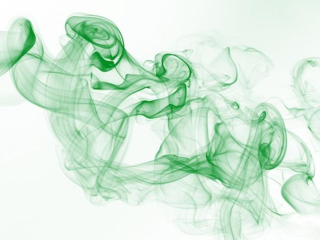 Green smoke motion abstract