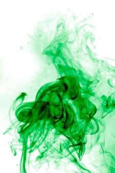 Green smoke on white background