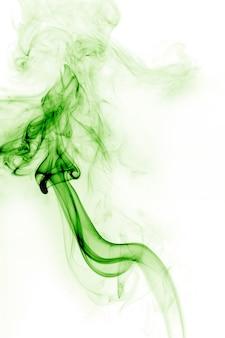 흰색과 녹색 연기