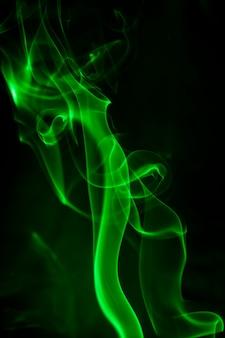 녹색 연기.