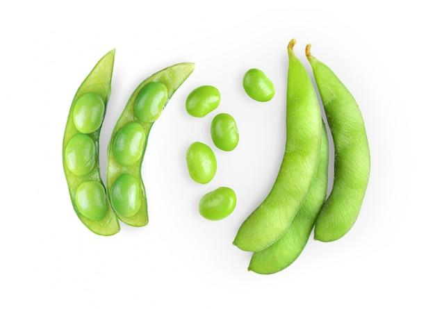 分離された緑の大豆