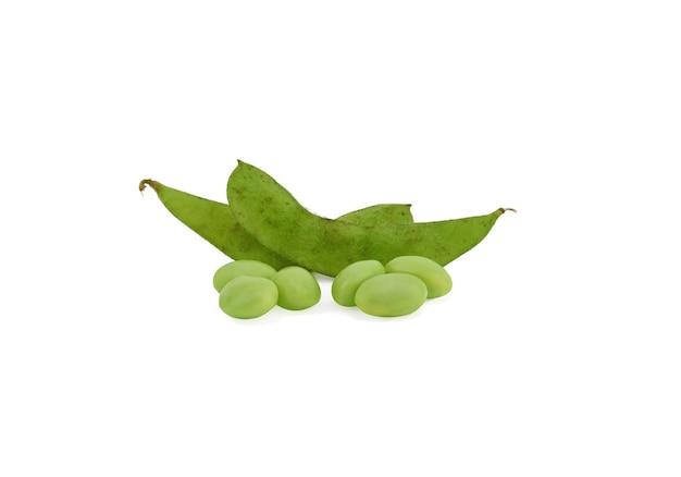 白い表面の枝豆