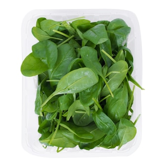 Green spinach, leaves
