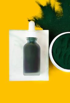Зеленая спирулина diy очищающая маска для лица и ингредиенты спа косметика и уход за телом