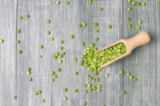 Green split peas,top view