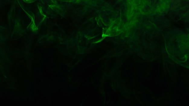 Green steam on a black.