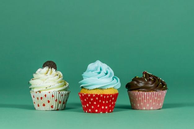 3おいしいカップケーキとグリーン面