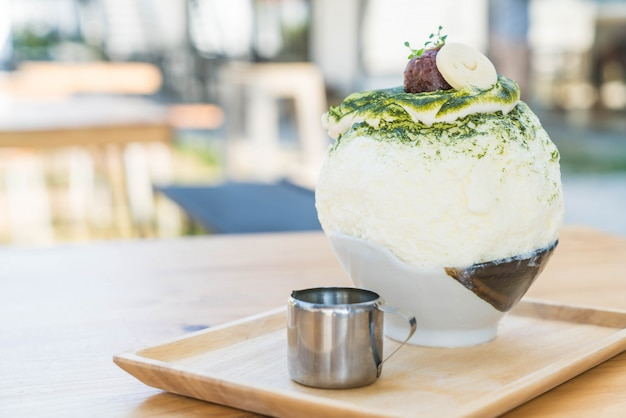 Green tea bingsu