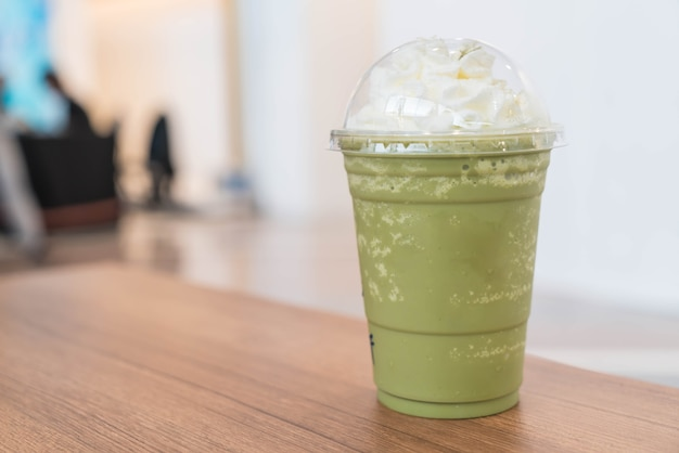 Green tea latte frappe