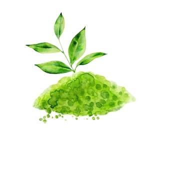 緑茶の葉と抹茶を分離