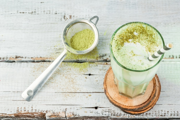 Зеленый чай маття латте