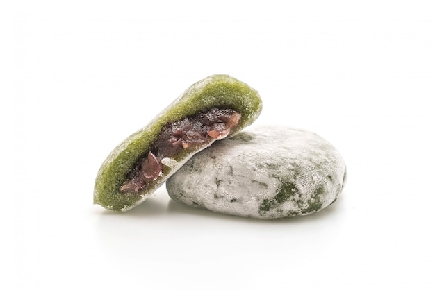 Green tea mochi with red bean