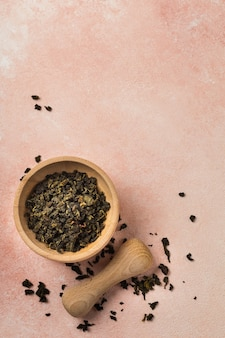 Green tea in natural cosmetics