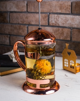 Green tea on the table