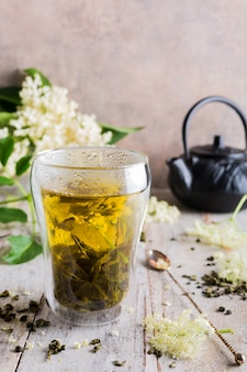 Green tea with elder flower