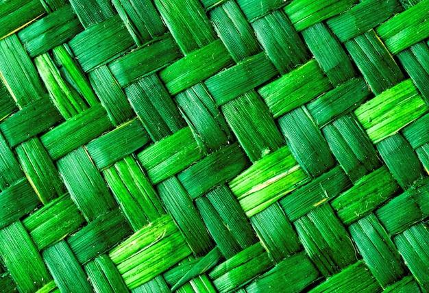 Green texture of basket