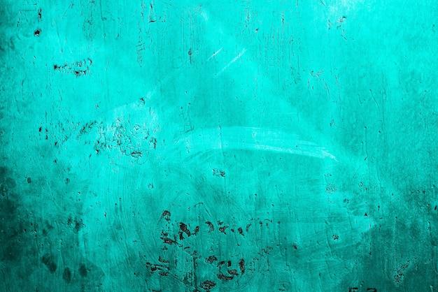 녹색 조수, 파란색, 청록색 오래 된 나무 질감 배경. 구배. 거칠기와 균열.