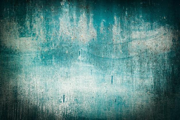 녹색 조수, 파란색, 청록색 오래 된 나무 질감 배경. 거칠기와 균열. 프레임, 비네트