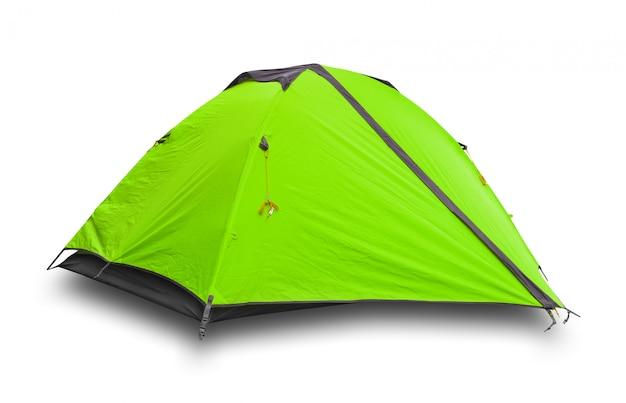 Зеленая туристическая палатка
