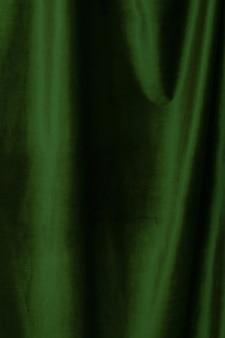Green  velvet fabric background close up