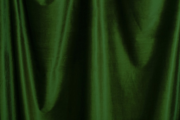 Green  velvet fabric background close up