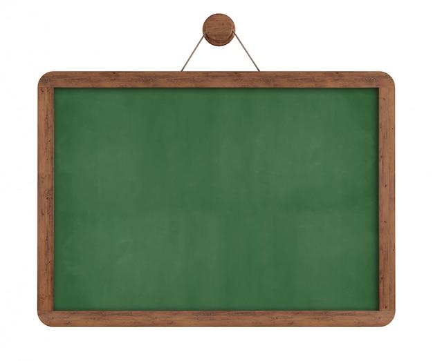 Green vintage chalkboard isolated