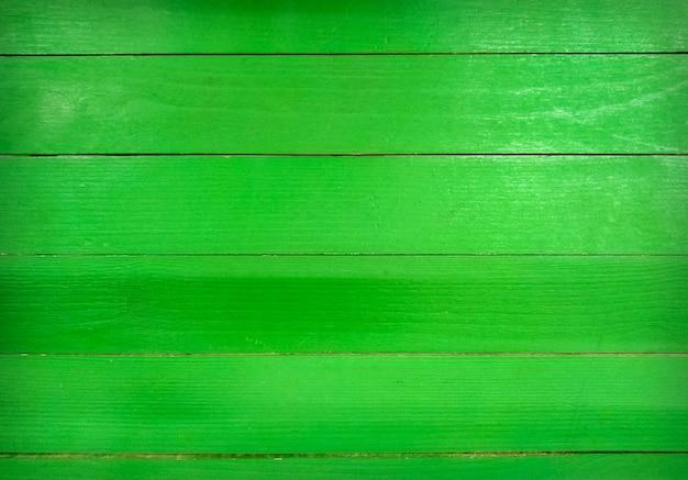 緑の壁の木製テクスチャ背景。