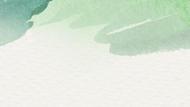 베이지색 배경 그림에 녹색 수채화