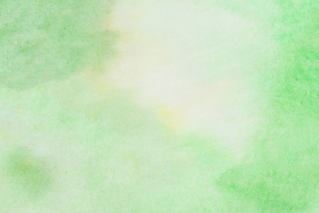 Green watercolor painted texture background