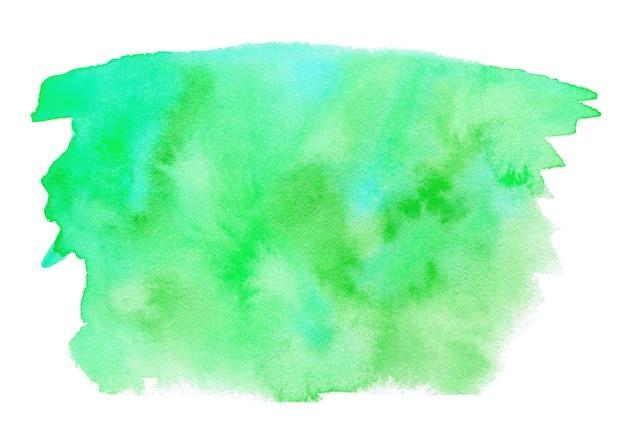 白で隔離の緑の水彩画の形