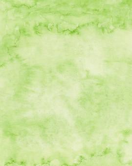Зеленая акварельная текстура бумаги фон