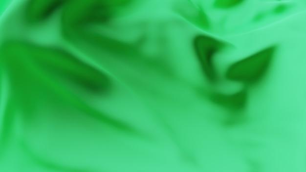 緑の波の生地の表面。抽象的な柔らかい背景。