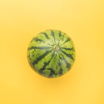 Green whole ripe watermelon