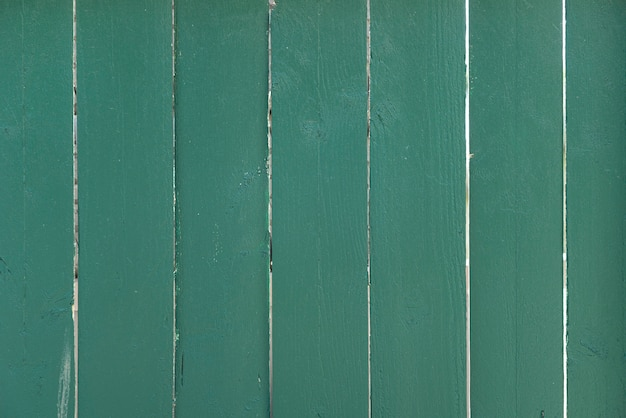 Green wood planks wall background