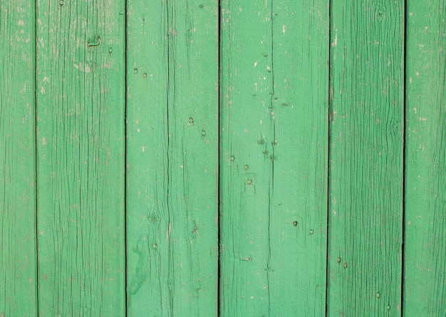 Green wood texture background top view  painted boards wood texture