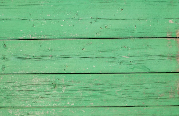 Green wooden board background top view wooden plank panel